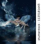 till death do us part 3d...   Shutterstock . vector #1135181645