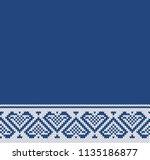 jacquard heart fairisle... | Shutterstock .eps vector #1135186877