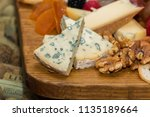healthy cheese in a breakfast | Shutterstock . vector #1135189664