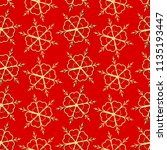 golden snowflake simple... | Shutterstock .eps vector #1135193447