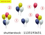 counting game for preschool... | Shutterstock .eps vector #1135193651
