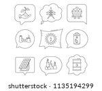 solar collector energy  battery ...   Shutterstock .eps vector #1135194299