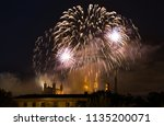 fireworks at cathedral... | Shutterstock . vector #1135200071