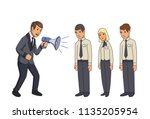 angry businessman with... | Shutterstock .eps vector #1135205954