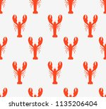 seamless vector tropical marine ... | Shutterstock .eps vector #1135206404