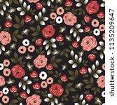 flower pattern on back | Shutterstock .eps vector #1135209647