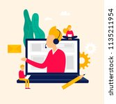 online support  letter call.... | Shutterstock .eps vector #1135211954