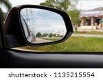 blur reflection in side mirror | Shutterstock . vector #1135215554