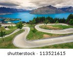 Luge Track With Beautiful Lake...