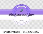 hand drawing currant jam... | Shutterstock .eps vector #1135220357