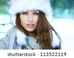 Young Woman Winter Portrait....