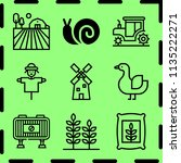 simple 9 icon set of farm... | Shutterstock .eps vector #1135222271
