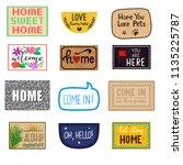 home mat vector welcome doormat ... | Shutterstock .eps vector #1135225787