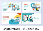 set of web page design... | Shutterstock .eps vector #1135234157