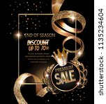 premium sale banner with curly... | Shutterstock .eps vector #1135234604
