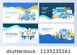 set of web page design... | Shutterstock .eps vector #1135235261
