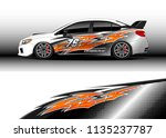 car decal graphic vector  truck ... | Shutterstock .eps vector #1135237787