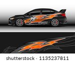 car decal graphic vector  truck ... | Shutterstock .eps vector #1135237811