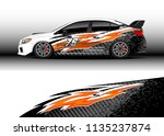 car decal graphic vector  truck ... | Shutterstock .eps vector #1135237874