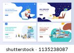 set of web page design... | Shutterstock .eps vector #1135238087