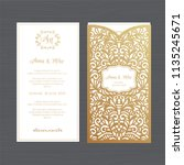 luxury wedding invitation or... | Shutterstock .eps vector #1135245671