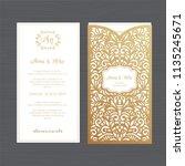 luxury wedding invitation or... | Shutterstock .eps vector #1135245671