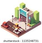 vector isometric laundromat... | Shutterstock .eps vector #1135248731