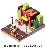 vector isometric auto parts and ...   Shutterstock .eps vector #1135248734