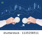 trading of currency pair... | Shutterstock .eps vector #1135258511