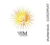 object sun spiral | Shutterstock .eps vector #1135259147