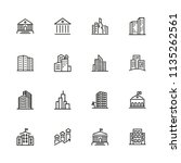 Building Icons. Set Of Line...