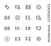 filmstrip icons. set of line... | Shutterstock .eps vector #1135262621