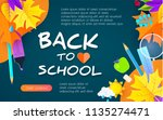 back to school design template... | Shutterstock .eps vector #1135274471
