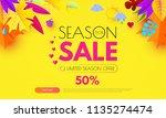 autumn sale. seasonal offer... | Shutterstock .eps vector #1135274474
