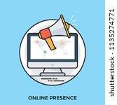 online presence management... | Shutterstock .eps vector #1135274771