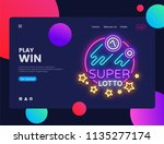 super lotto horizontal web... | Shutterstock .eps vector #1135277174