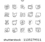 tv well crafted pixel perfect...   Shutterstock .eps vector #1135279511
