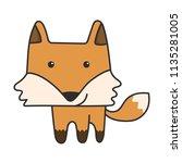 cute little fox doodle | Shutterstock .eps vector #1135281005