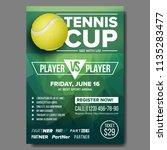 tennis poster vector. tennis... | Shutterstock .eps vector #1135283477