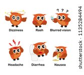 side effects for education.... | Shutterstock .eps vector #1135284494