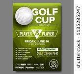 golf poster vector. golf ball....   Shutterstock .eps vector #1135285247