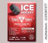 ice hockey poster vector. ice... | Shutterstock .eps vector #1135287377