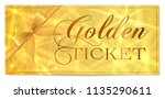 golden ticket  gold ticket ... | Shutterstock .eps vector #1135290611