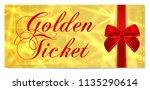 golden ticket  gold ticket ... | Shutterstock .eps vector #1135290614