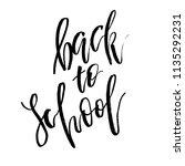 welcome back to school.... | Shutterstock .eps vector #1135292231
