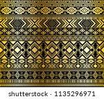 ethnic mexican tribal motifs... | Shutterstock .eps vector #1135296971