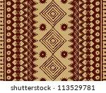 brown ethnic texture | Shutterstock .eps vector #113529781