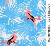 beautiful tropical seamless... | Shutterstock .eps vector #1135301024