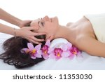 attractive woman getting spa... | Shutterstock . vector #11353030