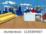 decorating the office room  | Shutterstock .eps vector #1135304507